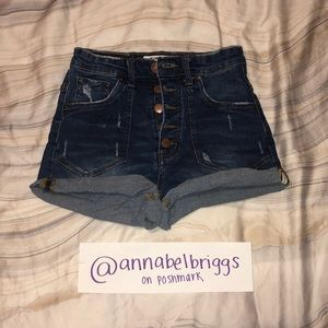 One x oneteaspoon rolled jean shorts HIGH RISE!